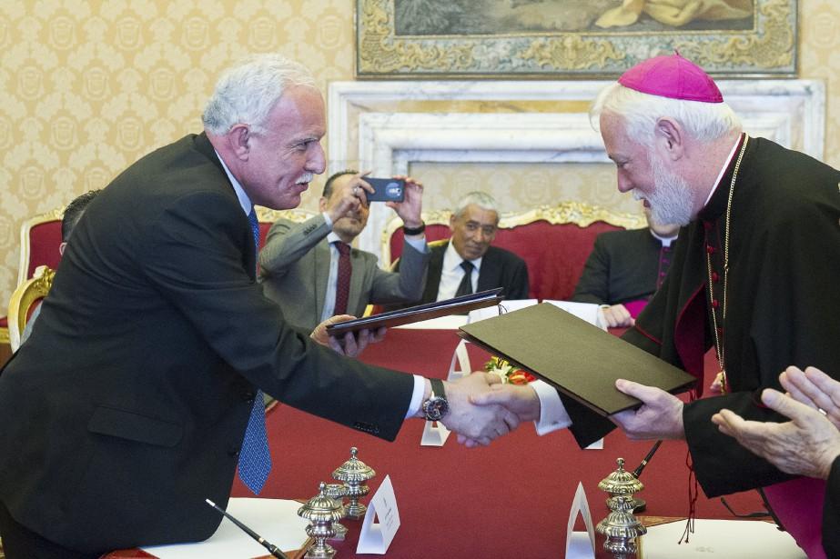 L'accord entre le Vatican et les Palestiniensavait été... (PHOTO ARCHIVES OSSERVATORE ROMANO, VIA REUTERS)