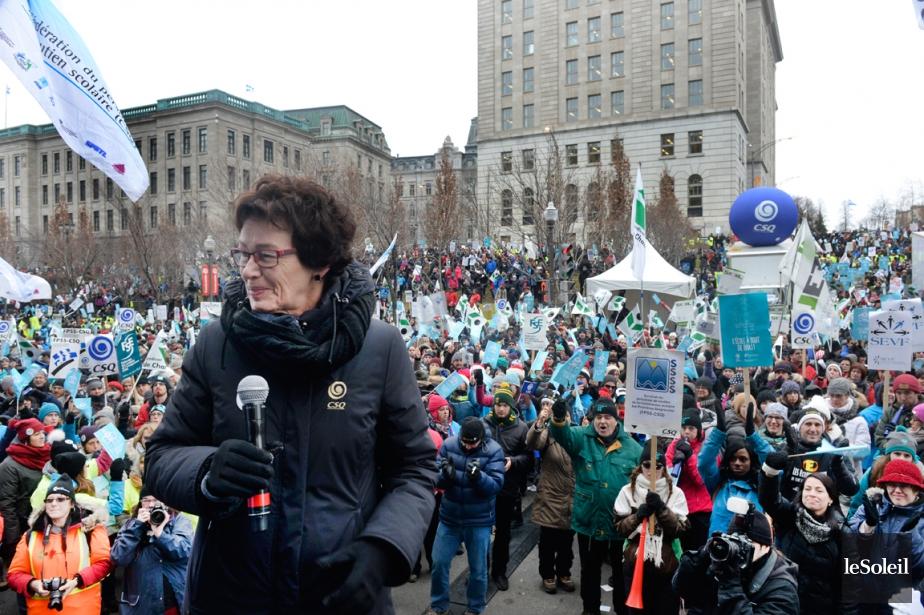 Selon la présidente de la CSQ, Louise Chabot,... (PHOTO JEAN-MARIE VILLENEUVE, ARCHIVES LE SOLEIL)