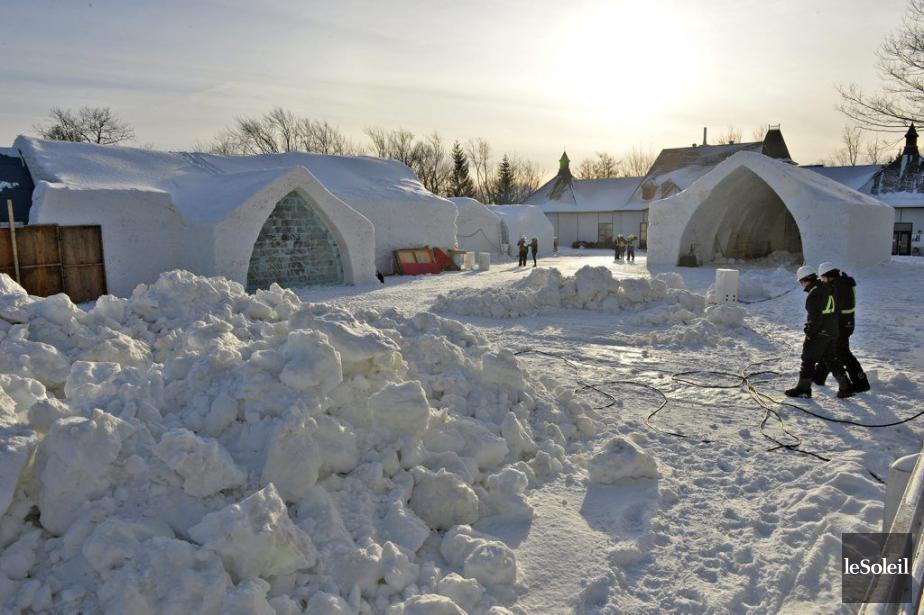 L'an dernier, l'Hôtel de glace a accueilli 5700... (Photo Pascal Ratthe, Le Soleil)