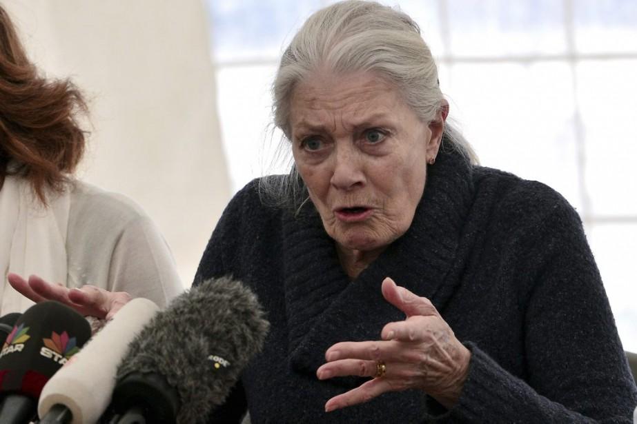 Vanessa Redgrave en conférence de presse au centre... (PHOTO AFP)