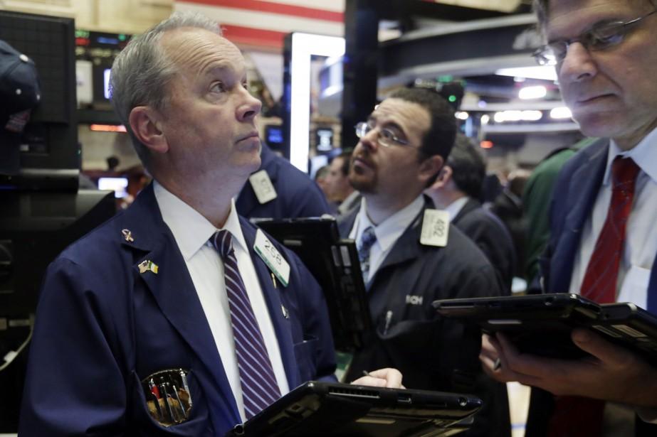 Selon des résultats définitifs, l'indice vedette Dow Jones... (PHOTO RICHARD DREW, ASSOCIATED PRESS)