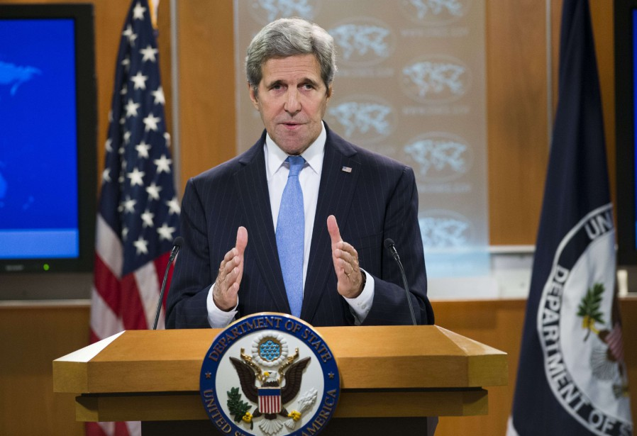 John Kerry a indiqué que son vis-à-vis iranien,Mohammad... (PHOTO SAUL LOEB, AGENCE FRANCE-PRESSE)