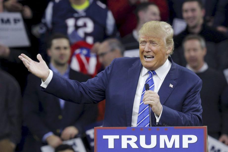 Donald Trump a d'ailleurs reconnu avoir reçu un... (PHOTO BRIAN SNYDER, REUTERS)