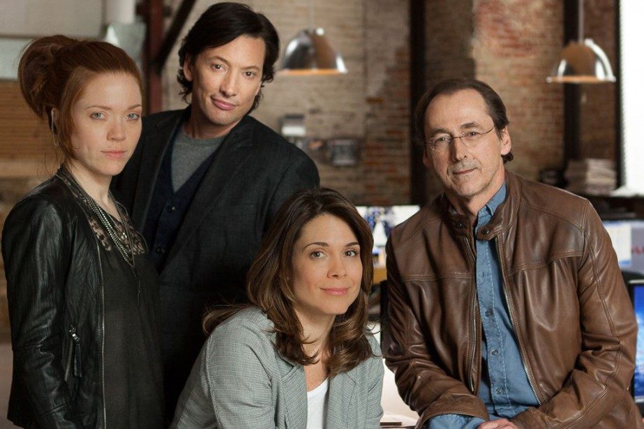 Catherine Bérubé, Danny Gilmore, Julie Perreault et Luc... (PHOTO FOURNIE PAR TVA)