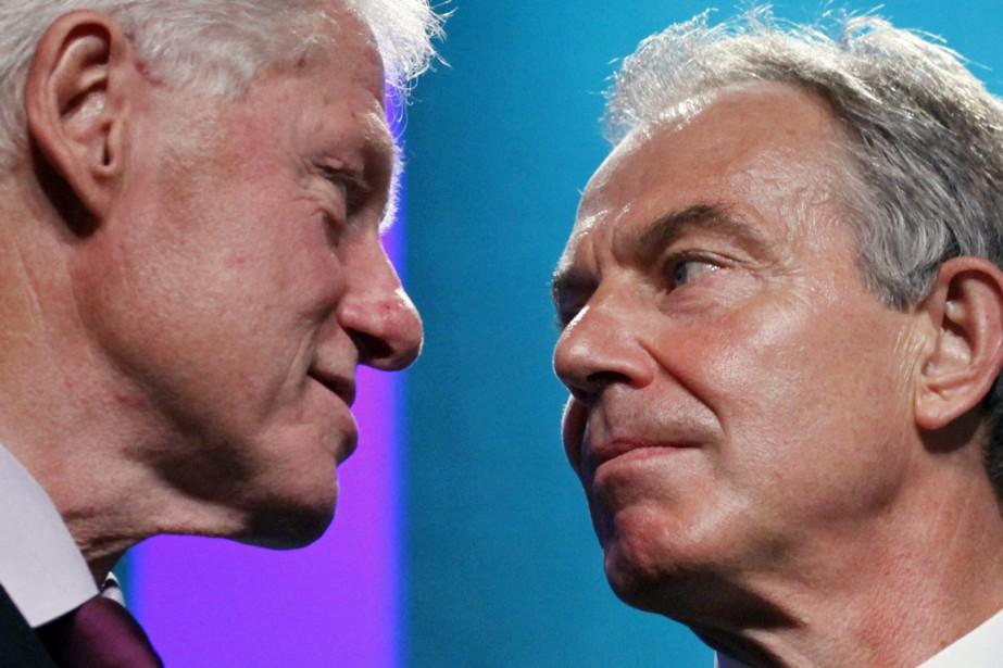 Les deux anciens dirigeants, en 2010.... (Photo Mark Lennihan, archives AP)