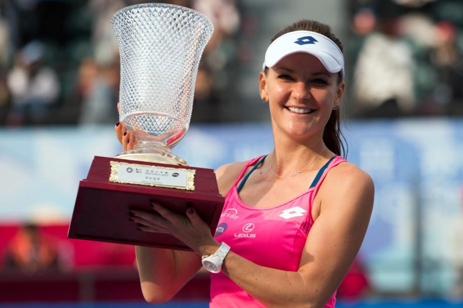 Agnieszka Radwanska a remporté le tournoi de Shenzhen,... (Photo AFP)