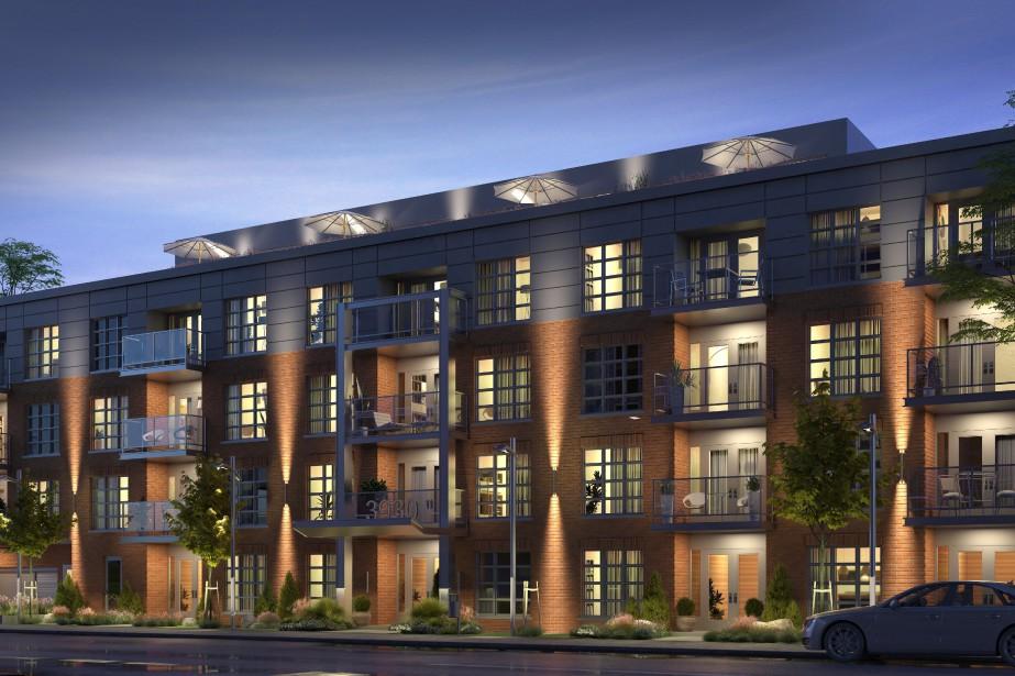 Le V1 Condominiums, qui comptera 32 appartements en... (ILLUSTRATION NARCIS BENGA, FOURNIE PAR CHAPAM CONSTRUCTIONS)