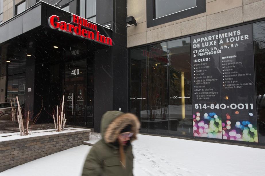 L'immeuble où habite Alex Galchenyuk, rue Sherbrooke Ouest.... (PHOTOPATRICK SANFAÇON, LA PRESSE)