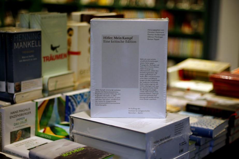 Depuis le 8 janvier,Mein Kampf, rédigé par Hitler... (Photo Matthias Schrader, AP)