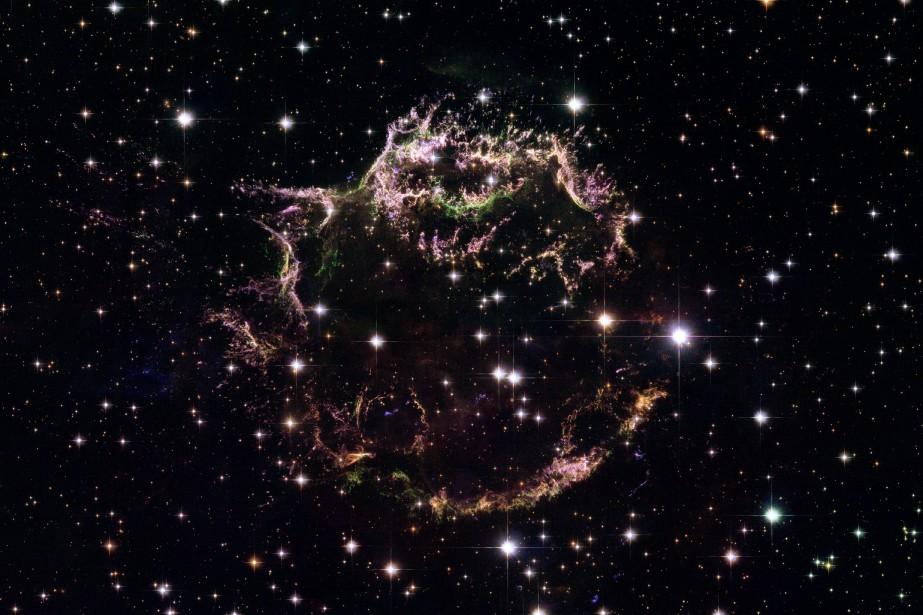 Cette image provenant du téléscope Hubble montre les... (PHOTO NASA VIA ASSOCIATED PRESS)