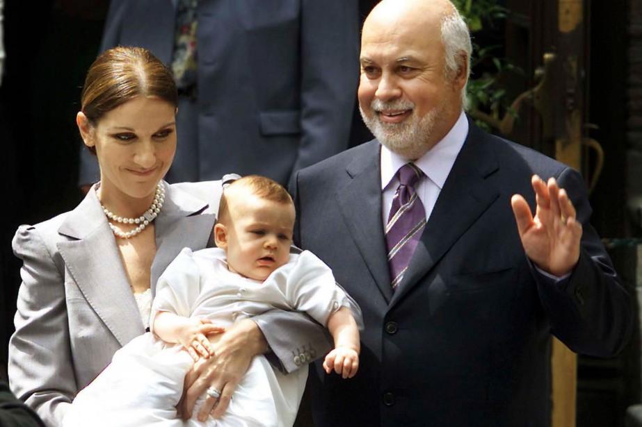 Le baptême de René-Charles Angélil, fils aîné de Céline et René, a été célébré le 25 juillet 2001 à la basilique Notre-Dame. (PHOTO ARCHIVES LA PRESSE)