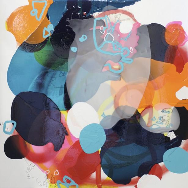 Tania Girard-Savoie exposera chez Michel Guimont. Ici, son oeuvre<em> Sans titre no 1</em> de la série <em>Variétés de lieux</em>, acrylique sur bois. (Photo fournie par la galerie Michel Guimont)