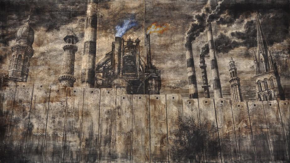 Martin Bureau exposera de nouvelles toiles à la Galerie 3. Ici, l'oeuvre <em>WALL and CO</em>. (Photo fournie par la Galerie 3)