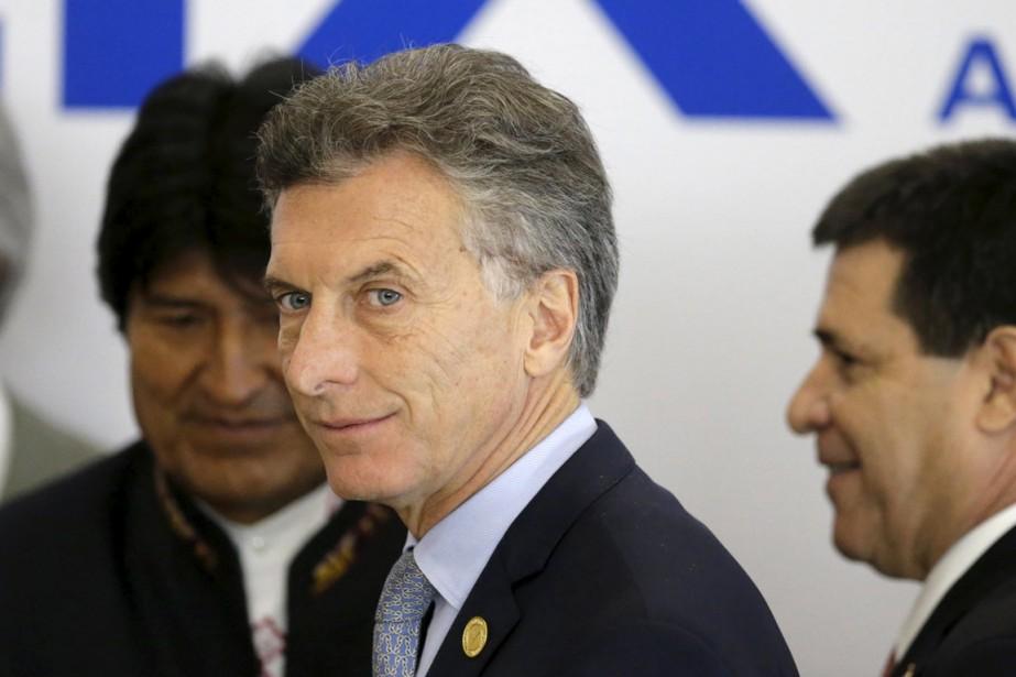 Mauricio Macri figure, comme le footballeur Lionel Messi,... (Photo Jorge Adorno, archives Reuters)