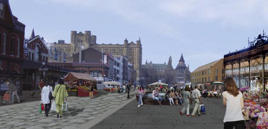 En 2017, les élus municipaux souhaitent élargir les travaux à la rue York que l'on voudrait embellir en réduisant les espaces de stationnement. ()