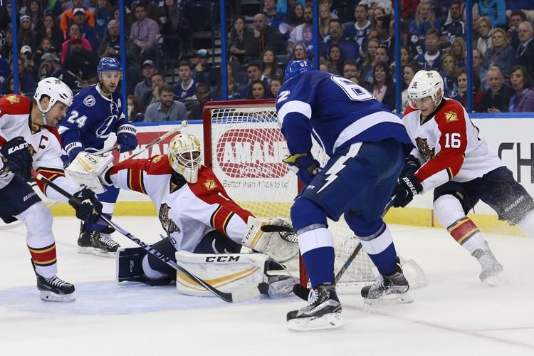 Nikita Kucherov a marqué deux buts et le Lightning de Tampa... (PHOTO REUTERS)