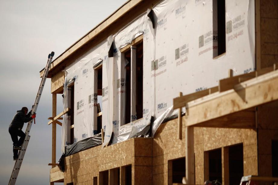 Les mises en chantier de logements aux États-Unis... (PHOTO ARCHIVES BLOOMBERG)