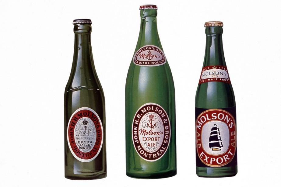 L'évolution des produits Molson au fil du temps....