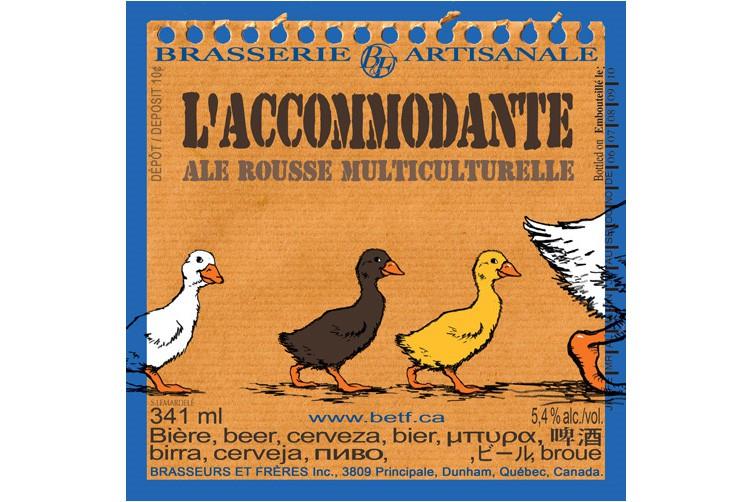 La défunte Brasseurs et frères est l'une des premières microbrasseries à offrir des étiquettes visuellement intéressantes conçues par le bédéiste Stéphane Des Mardelés. (PHOTO TIRÉE DE GOOGLE IMAGES)