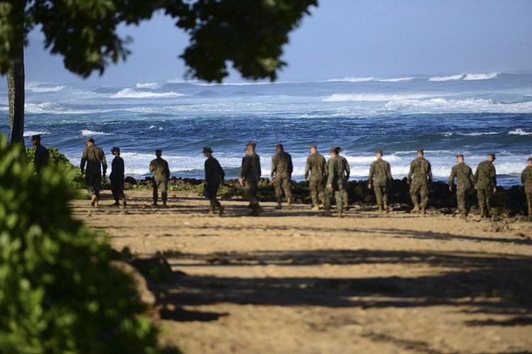 Les Marines forment le corps expéditionnaire de l'armée... (PHOTO REUTERS)