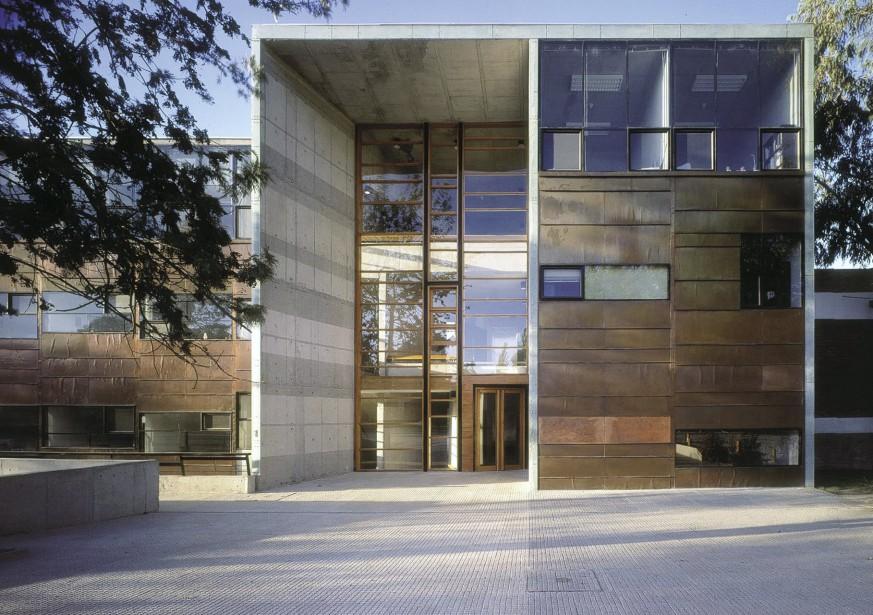 L'extérieur de la faculté de mathématiques de l'université catholique du Chili, àSantiago (AP, Tadeuz Jalocha)