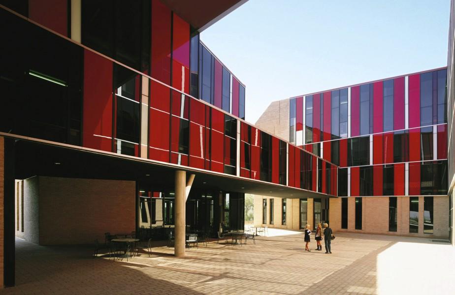 Le hall des résidences de l'Université St. Edward's, à Austin, au Texas (AP, Cristobal Palma)