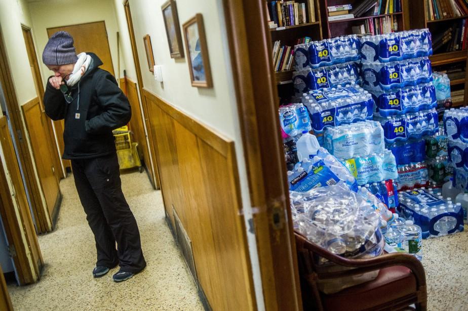 Contaminations, intoxications, les habitants de la ville de... (PHOTOJAKE MAY,THE FLINT JOURNAL/ ASSOCIATED PRESS)