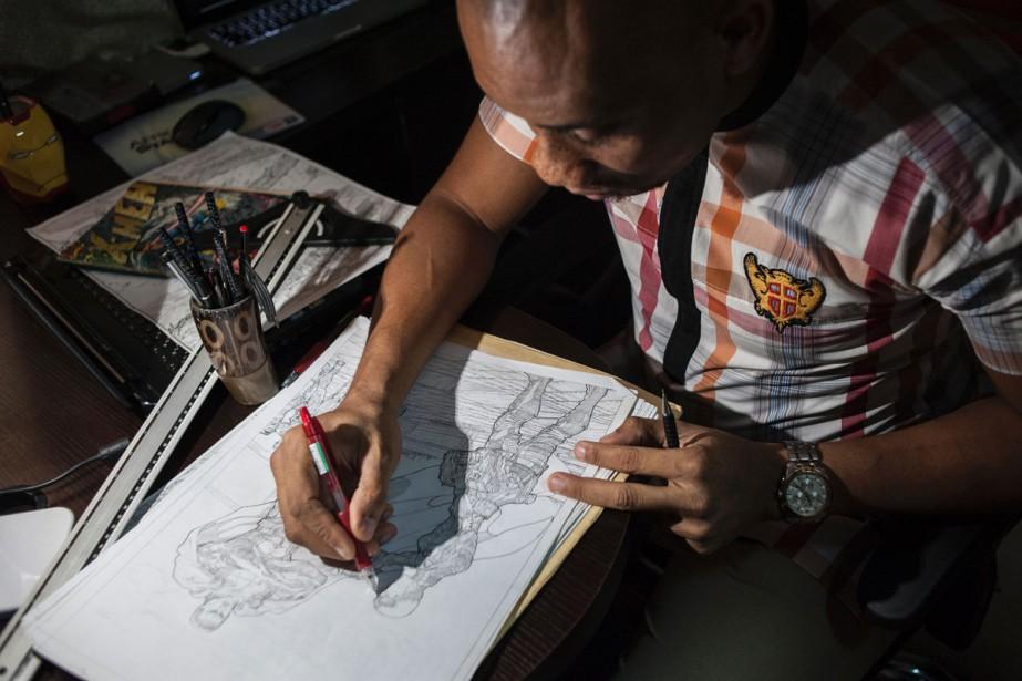 Jide Martins au travail.... (PHOTO AFP)