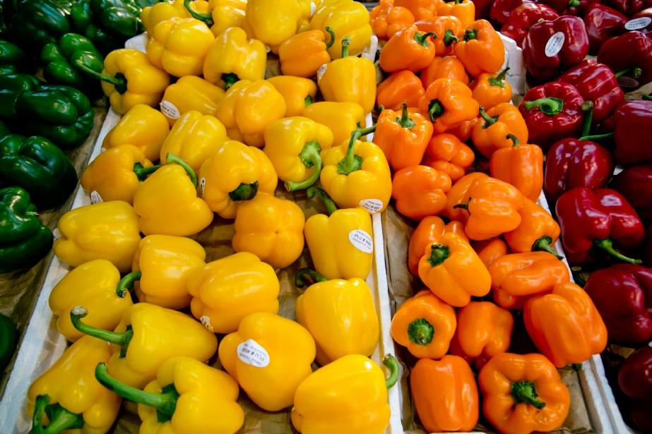 En un an, les prix des légumes et... (Photo David Boily, Archives La Presse)