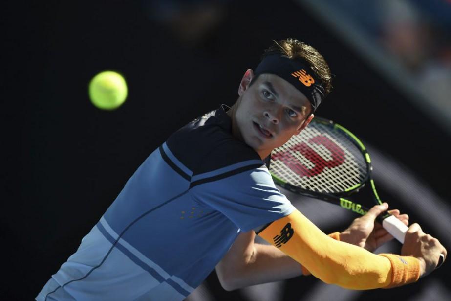 Milos Raonic... (PHOTO GREG WOOD, AFP)