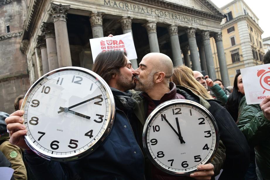 L'Italie est le dernier grand pays d'Europe occidentale... (PHOTO ALBERTO PIZZOLI, AGENCE FRANCE-PRESSE)