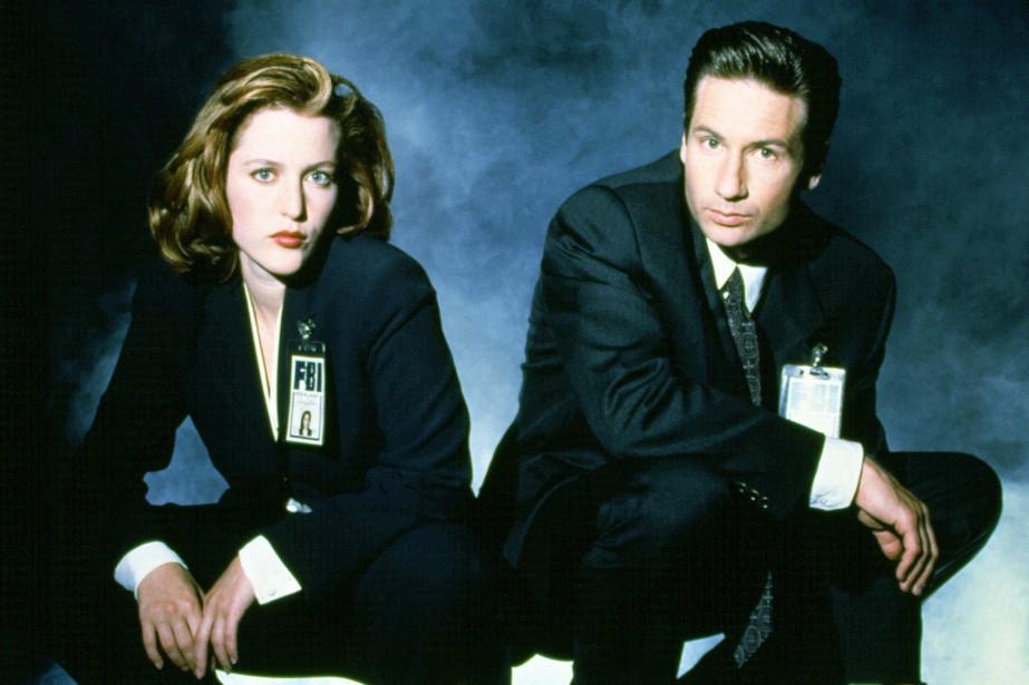Gillian Anderson (Dana Scully) etDavid Duchovny (Fox Mulder)... (PHOTO FOURNIE PAR FOX)