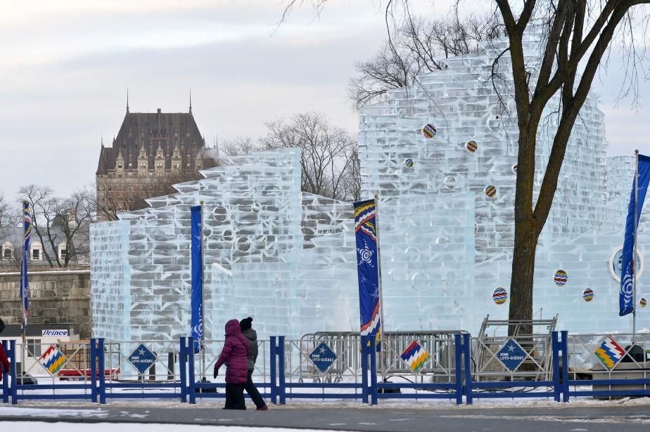 La cérémonie d'ouverture du 62e Carnaval de Québec aura lieu vendredi à 19h au Palais de glace de bonhomme, devant le Parlement. (Le Soleil, Jean-Marie Villeneuve)