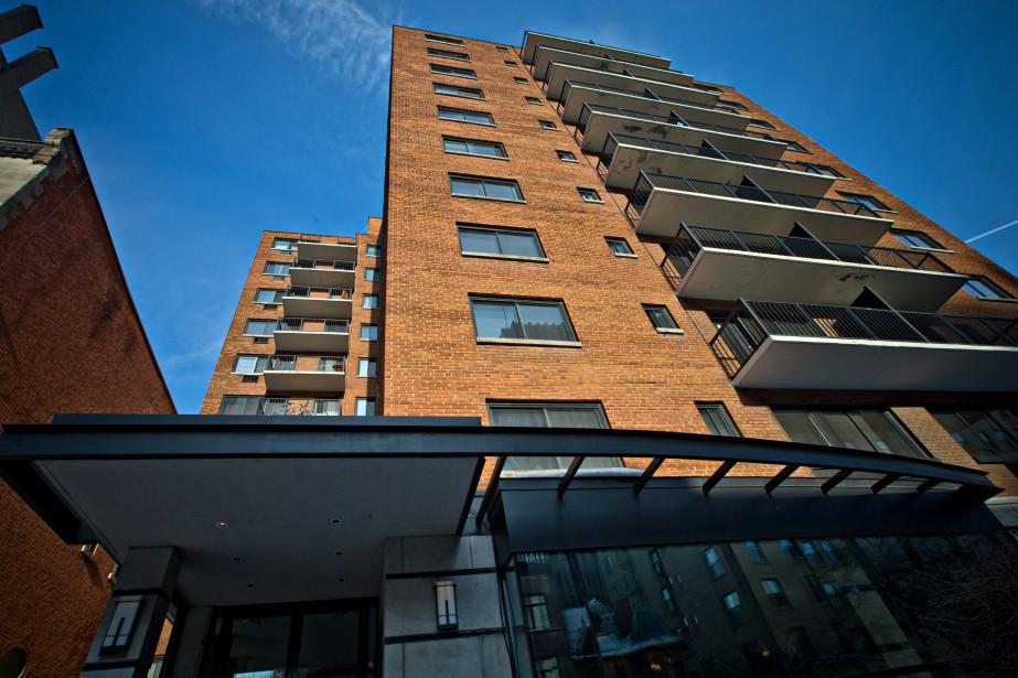 L'immeuble du 3421, Drummond, au centre-ville de Montréal,... (Photo Patrick Sanfaçon, La Presse)