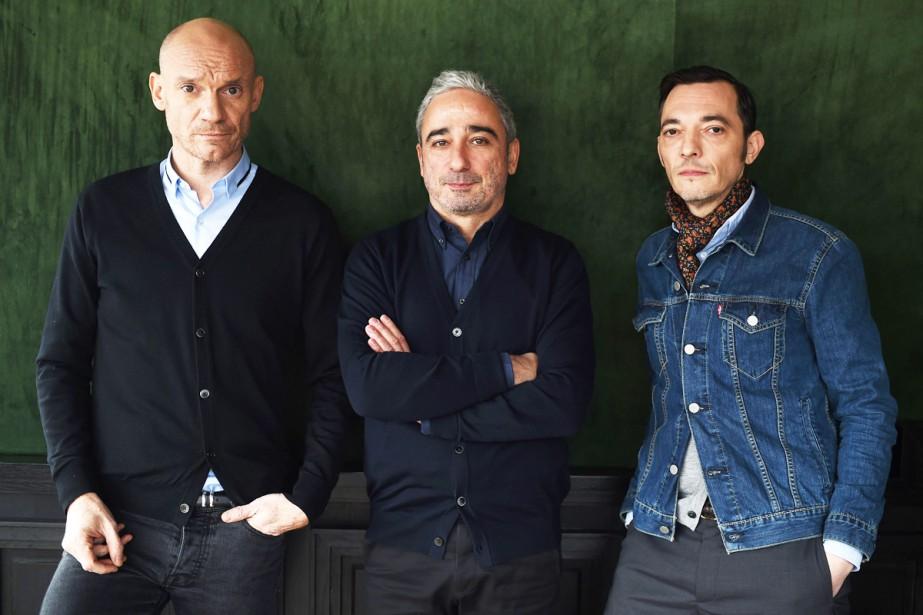 Gaëtan Roussel, Arnaud Samuel et Robin Feix du... (PHOTO AFP)
