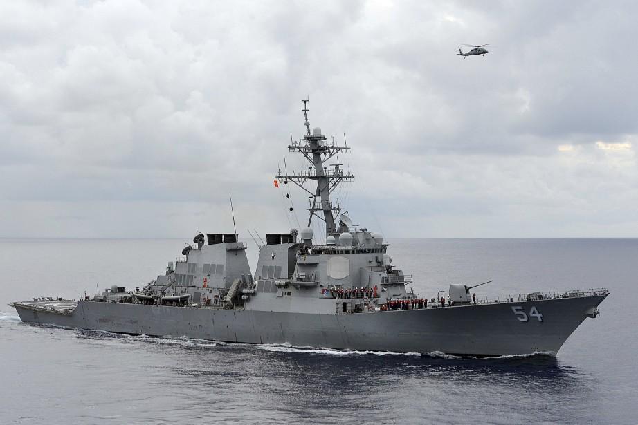 La patrouille effectuée par lecontre-torpilleur USS Wilbur avait... (PHOTO US NAVY VIA REUTERS)