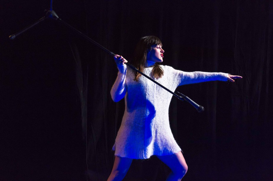 Dans la pièce4.48 Psychose,Sophie Cadieux incarne avec brio... (Photo Nicolas Descteaux, fournie par La Chapelle)