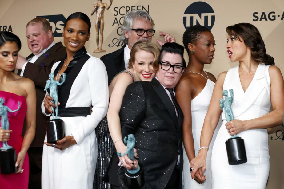 Les acteurs de la série Orange is the... (Photo Mike Blake, Reuters)