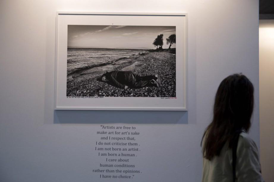 La photographie prisepar un photographe de l'India Todaya... (Photo Tsering Topgyal, AP)