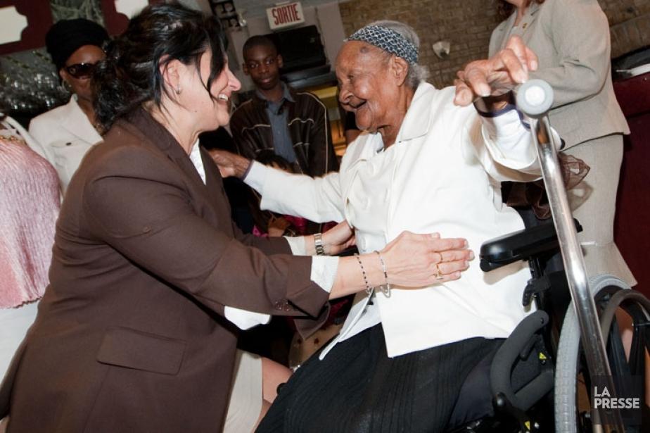 Cecilia Laurent lors des célébrations de son 115e... (PHOTO HUGO SÉBASTIEN AUBERT, ARCHIVES LA PRESSE)