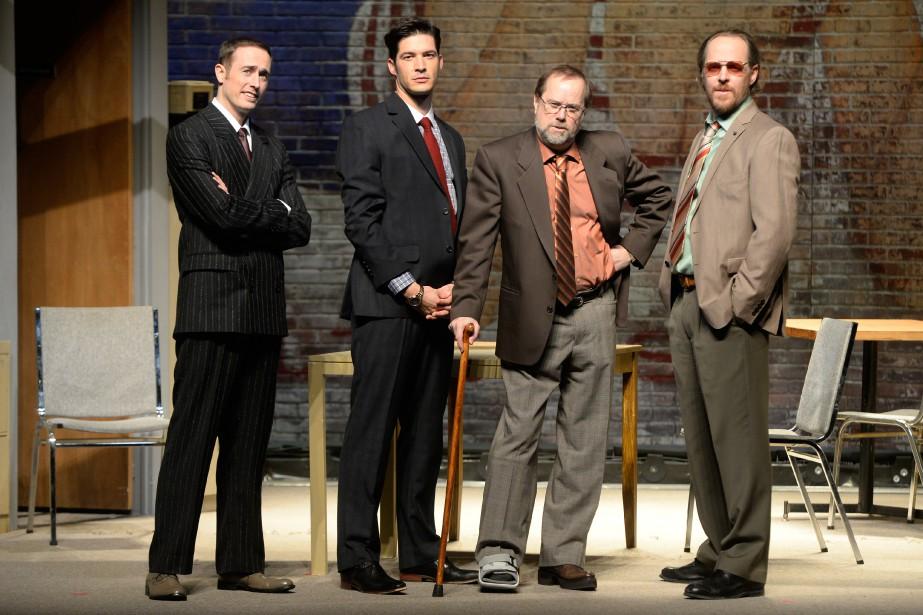 Renaud Paradis, Éric Bruneau, Denis Bouchard et Fabien... (PHOTO BERNARD BRAULT, LA PRESSE)