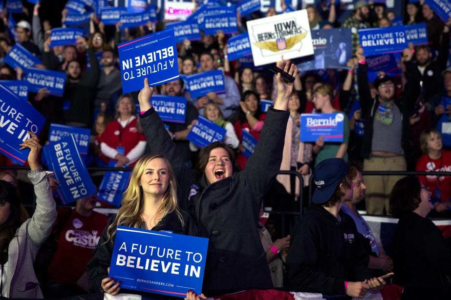 Bernie Sanders a été accueilli comme un véritable... (Photo Evan Vucci, Associated Press)