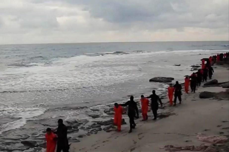C'est sur une plage libyenne que l'on peut... (Photo archives AP)