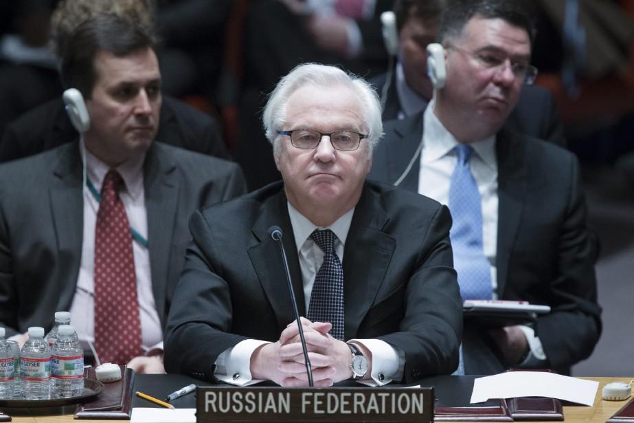 L'ambassadeur russe à l'ONU, Vitali Tchourkine... (PHOTO ARCHIVES AP)