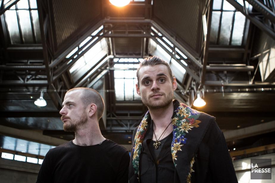 Le duoHeymoonshaker, composé deDave Crowe et Andy Balcon,... (PHOTO MATHIEU WADDELL, archives LA PRESSE)