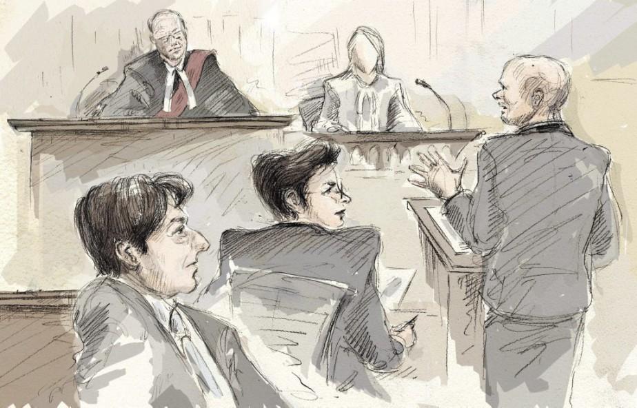 Jian Ghomeshi (à gauche)... (Illustration Alexandra Newbould, La Presse Canadienne)