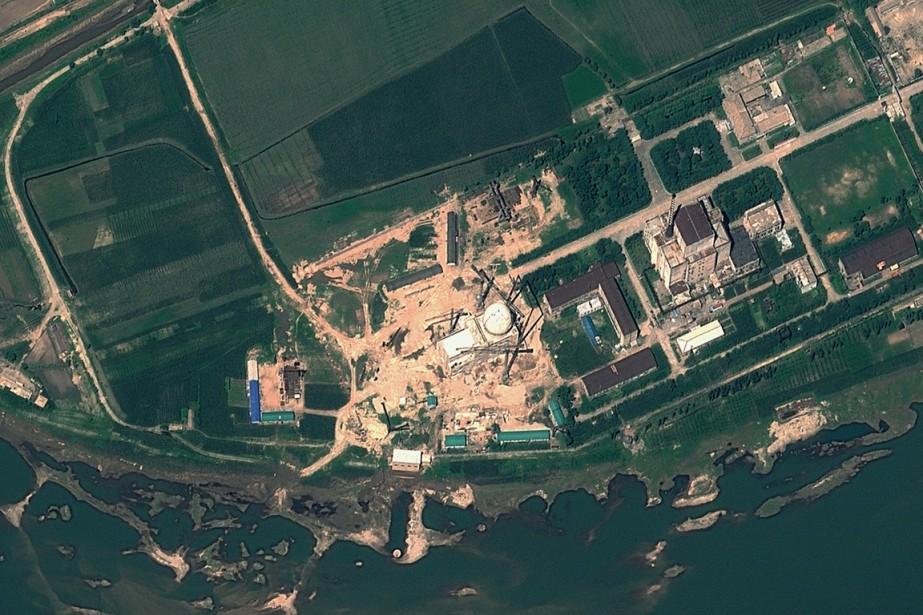 Une image-satellite du complexe nucléaire de Yongbyon, en... (IMAGE ARCHIVES AFP/GEOEYE SATELLITE IMAGE)