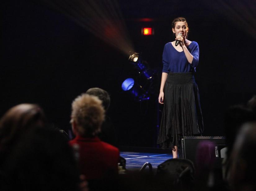 Lauréate du Prix de la relève culturelle de Radio-Canada, Gabrielle Maria Gourd a chanté à deux reprises durant le gala. (Simon Séguin-Bertrand, LeDroit)
