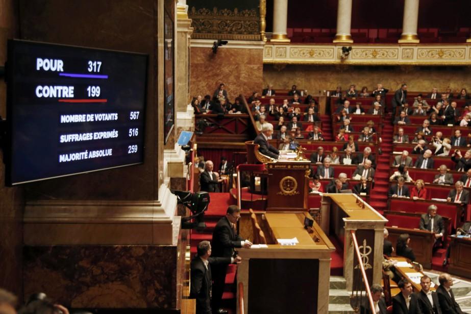 L'Assemblée nationale française a adopté le projet de... (PHOTO CHARLES PLATIAU, REUTERS)