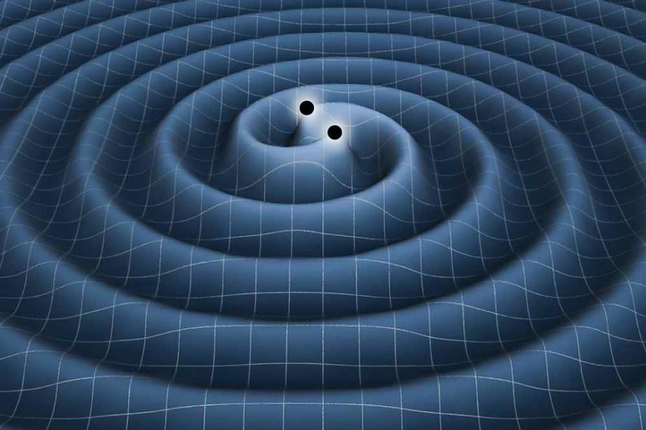 L'onde gravitationnelle qui aurait été détectée par le... (IMAGE FOURNIE PAR LA NASA)